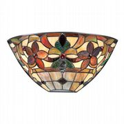 Kami Wall Uplighter in Vintage Bronze with Tiffany Glass - QUOIZEL QZ/KAMI/WU